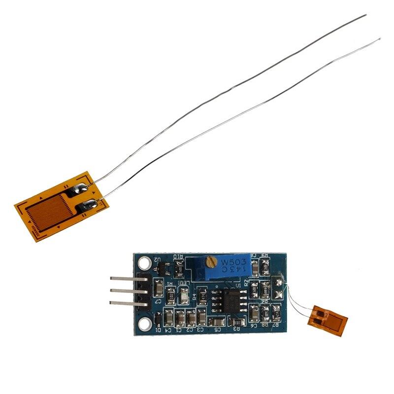 6 Pcs BF350-3AA Strain Gauge: 1 Pcs Strain Gauge Bending Detection Test Sensor Module Weigh Amplifier Blue & 5 Pcs 350Ω High-Pre