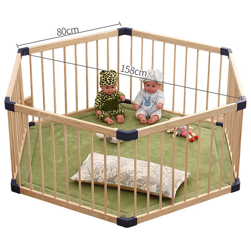 Baby Safety Play Fence 61cm High Solid Wood Safety Fence For Indoor Outdoor Safety Game Fence Child Playhouse Game Fence