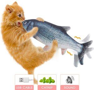 Танцующая рыба, игрушки для домашних животных, плюшевая имитация, электрическая кукла, рыба, движущаяся рыба, Забавный интерактивный подарок с USB зарядкой для детей, кошек|Роботы и животные с ДУ|   | АлиЭкспресс
