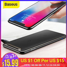 Baseus Triple Coil Wireless Charger Pad For iPhone X Xs Max XR Desktop Fast Wireless Charger Stand For Samsung Note9 S9 S8