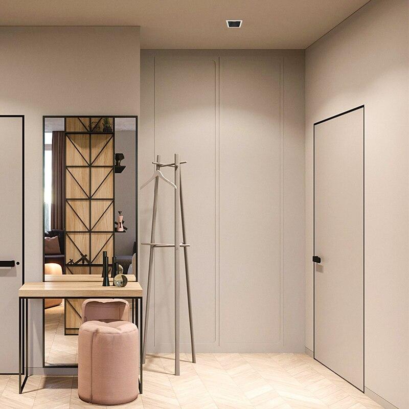 Aisilan светодиодный встраиваемый вниз светильник COB квадратный антибликовый светильник для гостиной спальни коридора светодиодный Встроенн...