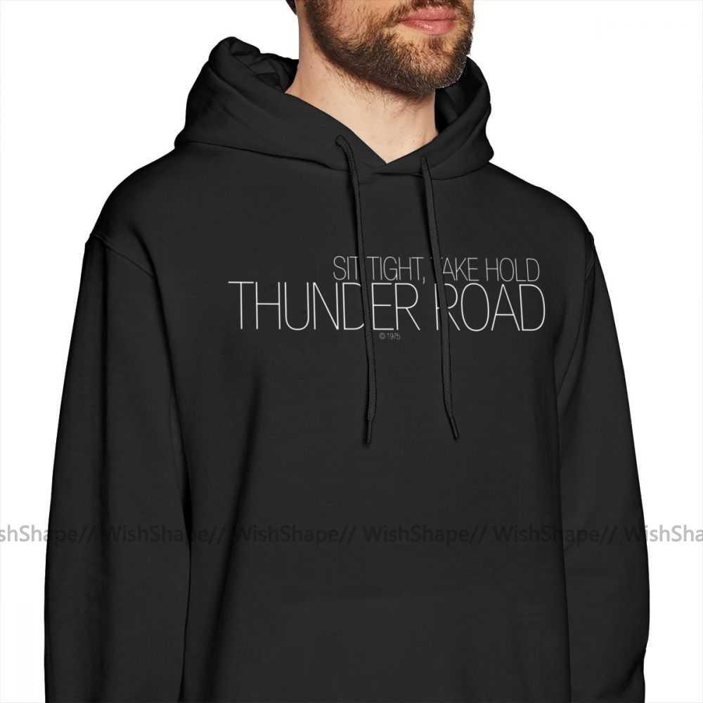 Bruce Springsteen Hoodie Thunder Road Hoodies Male Warm Pullover Hoodie Outdoor Purple XXX Long Nice Cotton Hoodies