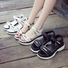 Woman Flat Sandals Sneakers Summer Women Sandals Thick Bottom Wedge Platform Casual Shoes Ladies Ankle Strap Open Toe Shoes maxmuxun women shoes comfort slip on classic high platform wedge sandals 2018 summer ladies open toe buckle strap thick shoes