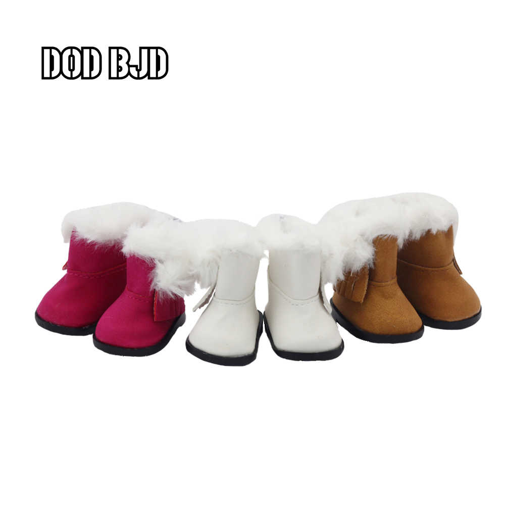 DOD BJD 14 inch Girls Dolls Snow Boots shoes for Plush EXO Doll accessories 1/6 doll winter Chirstmas shoes