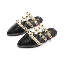 Children Sandals girls 2020 summer Roman rivet princess Shoes