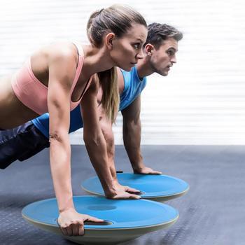 Универсальная балансирная доска для фитнеса с ручкой противоскользящая балансировочная доска Йога фитнес-координационная тренировочная ...