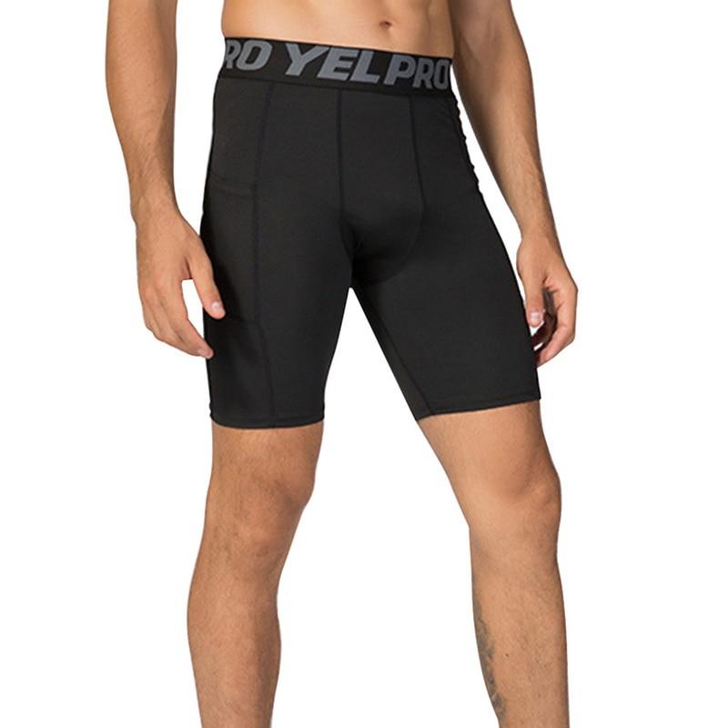 Training-Shorts Leggings Pocket Fitness Quick-Drying Bodybuilding Male Mens Summer