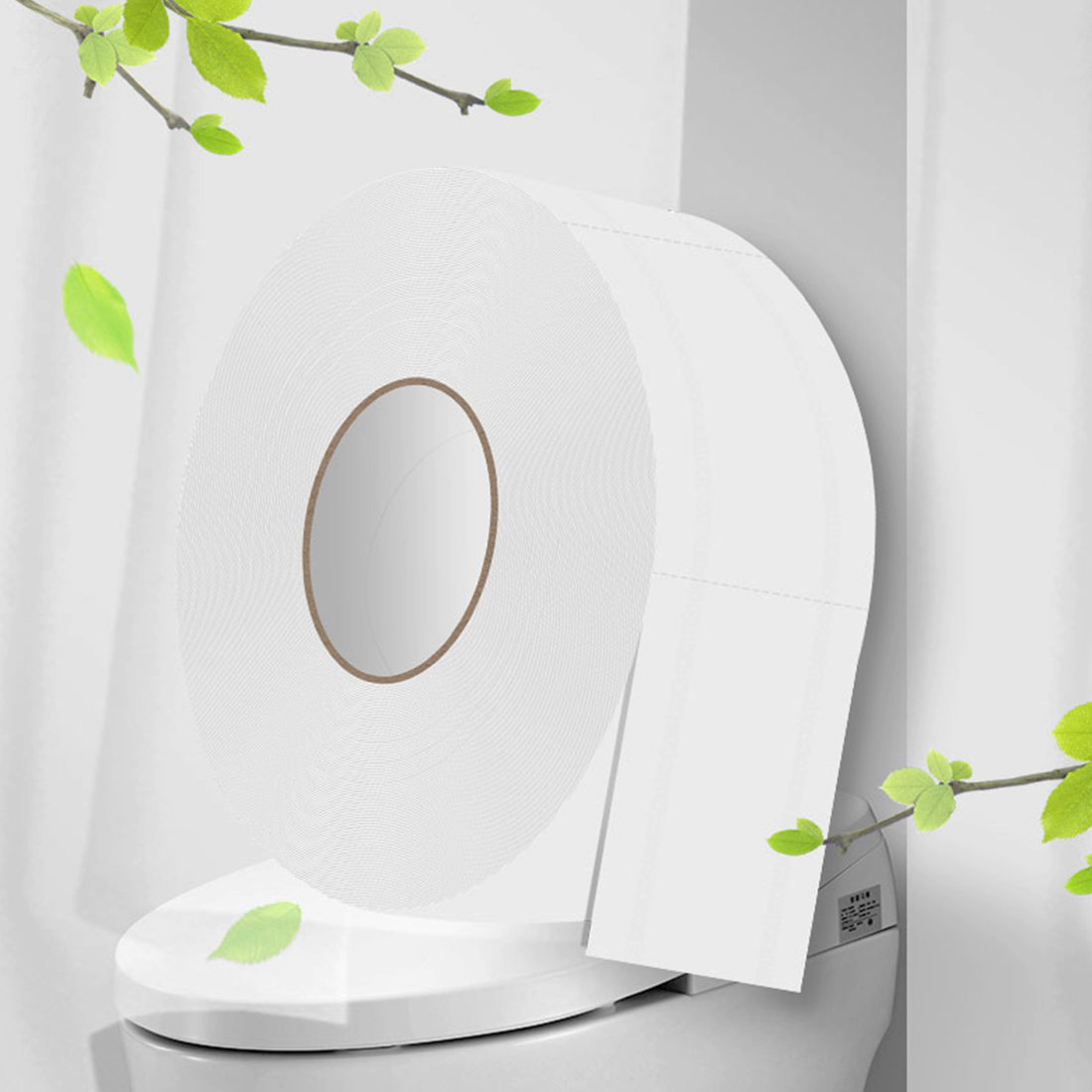 1 Roll White Toilet Paper 580g 900+sheets Jumbo Roll Soft Tissue Towels For Home Public Hotel Strong Water Absorption