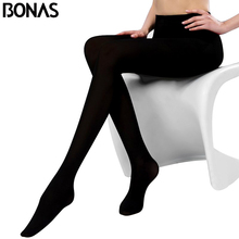 BONAS 2pcs Winter Women Plus  Autumn Tights High Elastic Velvet Warm Pantyhose Sexy Legins Female leggings