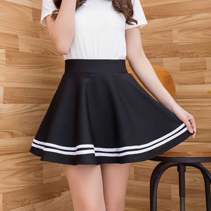 Vacation Pleated Satin Skirt summer High Waist Pleated Mini Skirt Women's Fashion Slim Waist Casual Tennis Skirts Preppy Style image