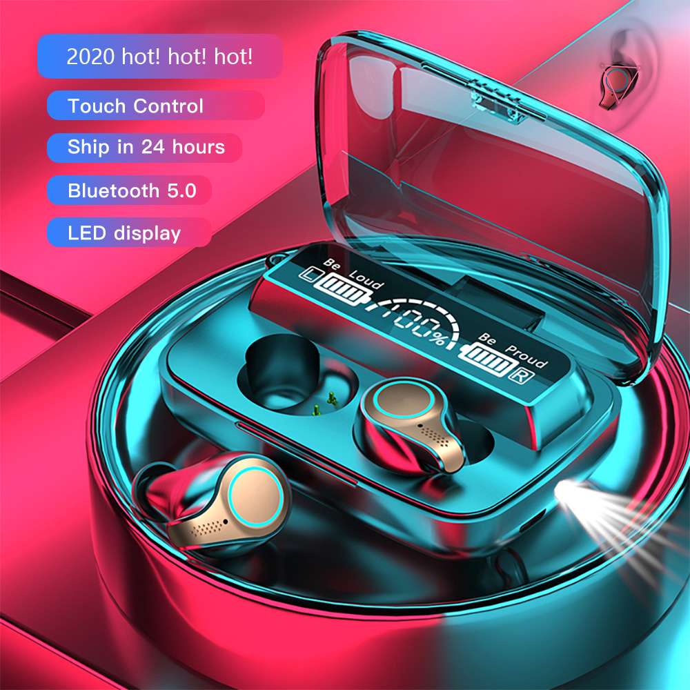 M18 tws 5.1 esportes fones de ouvido sem fio à prova dwaterproof água fones estéreo alta fidelidade com microfones para xiaomi smartphone