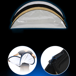 5 In 1 Travel With Handle Oval Collapsible Photography Lighting Multi Disc Photo Studio Reflector Non-Slip Accessories 80x120cm