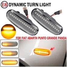 2 pçs led sinal de volta dinâmica lado marcador da lâmpada repetidor luz indicadora para fiat abarth punto grande panda 199 doblo fiorino 3