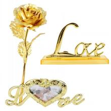 Gold-Decoration Flower-Frame Base-Rose Gifts 24K Love-Base Funny Beautiful Attractive