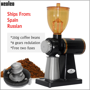 Xeoleo Electric Coffee grinder mill machine Espresso 8 Steps Anti-jump 60mm Flat Wheel Burr - discount item  19% OFF Kitchen Appliances