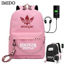Imido спортивные рюкзаки для школьниц странные вещи usb зарядка