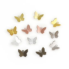 100pc Mix Color Metal Butterfly Charms Diy Hand Made Butterf