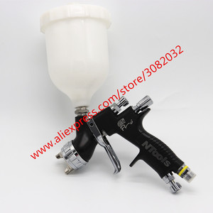 Image 4 - SPRAY GUN Professional Gti Pro Lite Black Painting Gun T110/TE20 1.3/1.8mm Nozzle Paint Gun Water Based Air Spray Gun