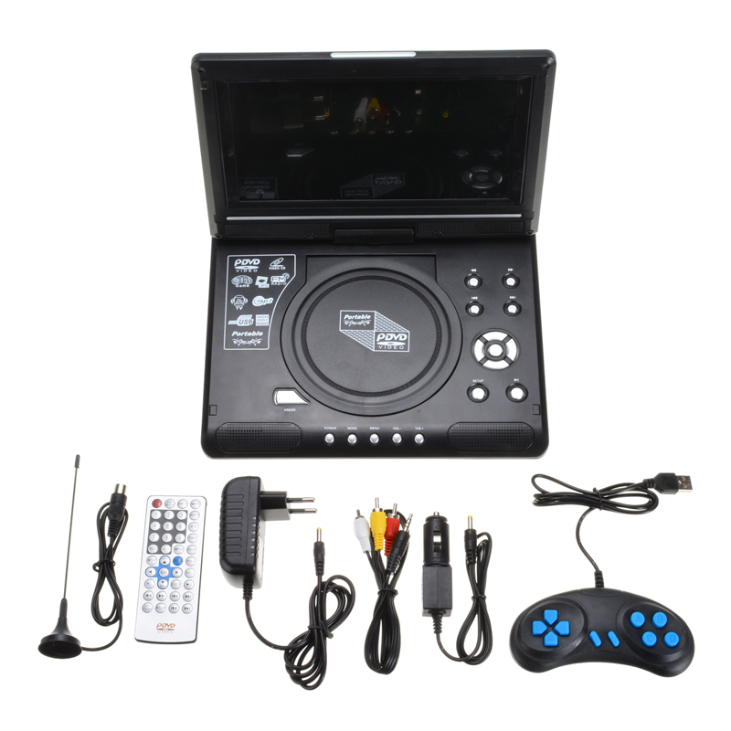 For <font><b>MP3</b></font> <font><b>USB</b></font> FM Radio Adapter <font><b>Car</b></font> Game TV <font><b>Player</b></font> LCD <font><b>Player</b></font> Video HD 9.8 Inch Format Support AVI EVD DVD VCD <font><b>CD</b></font> Mayitr image