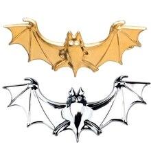 цена на 3D Cool Metal Bat Auto Logo Car Styling Car Stickers Metal Batman Badge Emblem Tail Decal Motorcycle Car Accessories