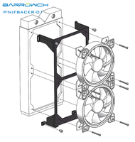 Barrowch FBACER 01  240 Radiator Installation Module  For Mobula Modular Panel Case|Fans & Cooling Accessories| |  -