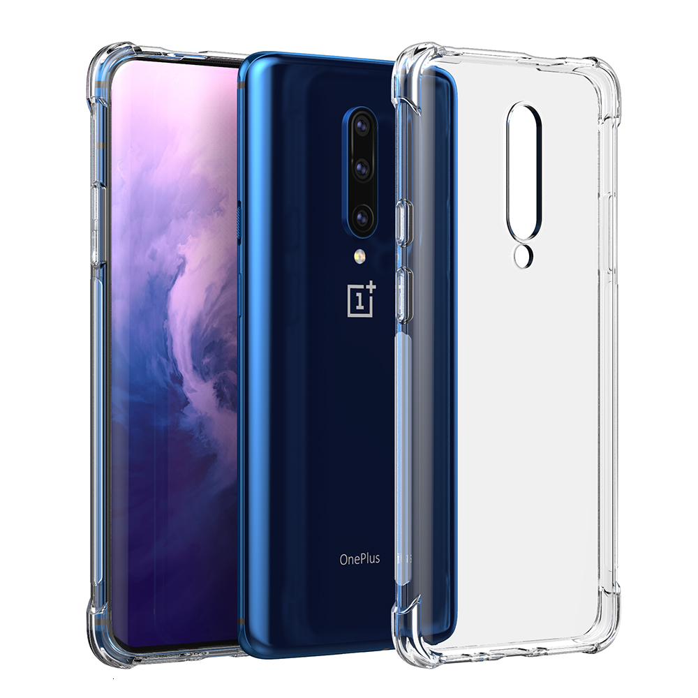 Clear Soft TPU For OnePlus 7T 7 6T 6  Pro 5G McLaren Anti-shock Shockproof Case Full Cover Back One Plus 5T 5 3T 3 Airbag Case