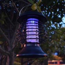 Mosquito Killer Lamp Solar Charge Hanging Small Insect Control Outdoor Garden Plastic Save Power Waterproof