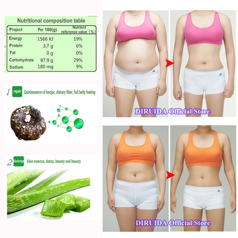 Pure Natural Konjac Aloe Slimming Product Healthy Slimming Lose Weight Diet Pills Capsules Without Any Additives Dropshipping