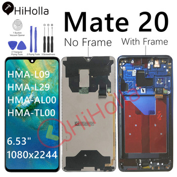 Original LCD For Huawei Mate20 Mate 20 Display Screen Touch Digitizer With Frame Replace For Huawei Mate 20 LCD Screen HMA-L29