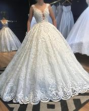 Luxury Beaded Lace Wedding Dress 2020 Highly Custom Made Bridal Gowns Robe De Mariee Mariage Vestidos Novia