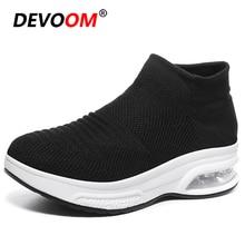 2020 Outdoor High Top Running Shoes For Women Chunky Socks Sneakers Women Flykni