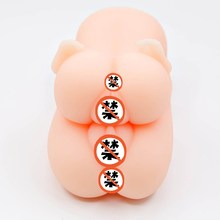 Double flight masturbation device Adult male soft rubber aircraft cup double hole vibration
