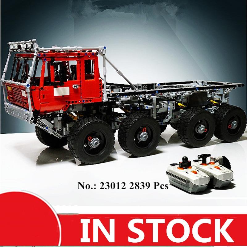 В наличии, H&HXY, 23012, 2839 шт., настоящая техническая серия Arakawa Moc, эвакуатор, Татра, 813, развивающие строительные блоки, кирпичи, игрушки