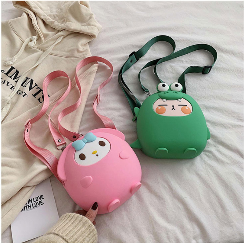Mini Backpack Women Soft Silicone Shoulder Bag For Girls Multi-Function Cute Cartoon Anime Bagpack Female Ladies School Backpack