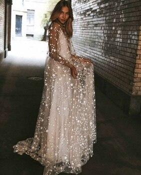 Bata blanca ceramonie para mujer, vestido Sexy con la espalda descubierta, con perspectiva de espuma química, vestido con purpurina hasta el suelo para vestidos de boda de mujer