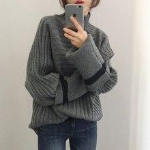 2019 Joker Warm High Neck Knitted Sweater Women Pullovers Turtleneck Sweaters Fashion