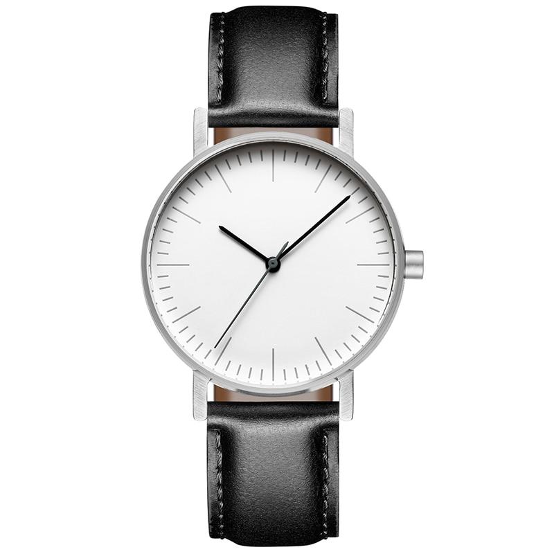 ADDIES Bauhaus Minimalist Style Leather Watch Swiss Rhonda 763 Movement Minimal 36mm Stainless Steel Meshbelt Couple Wristwatch