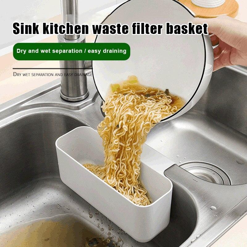 Купить настенная пластиковая корзина для кухонной раковины с сетчатым