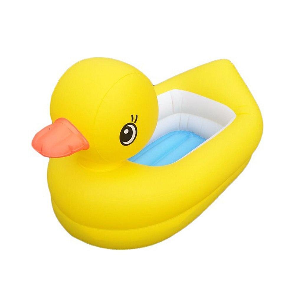 Environmentally Friendly Pvc Inflatable Small Yellow Duck Tub Inflatable Duck Baby Tub Inflatable Tub