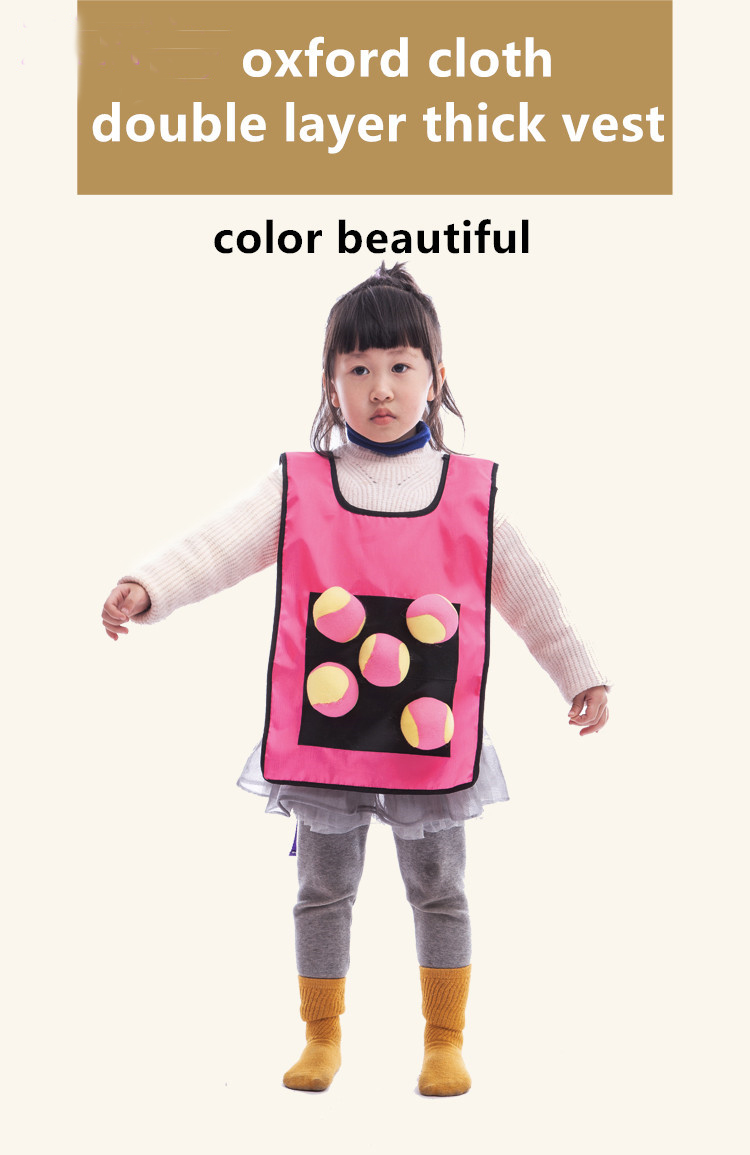 1Set Game Props Vest Sticky Jersey Vest Game Vest Waistcoat With Sticky Ball Throwing Children Kids Outdoor Fun Sports Toy ZXH