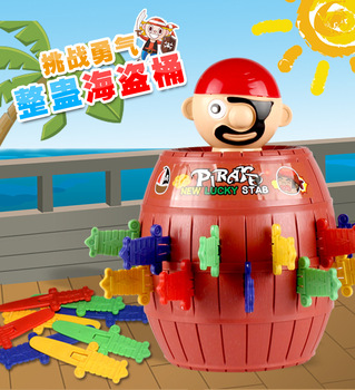 Interactive toys Pirate Bucket for Kids and adults Lucky Stab Pop Up Game Toys Intellectual Game For Kids