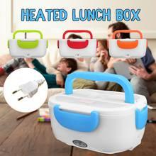 12 v/110 v/220 v carro portátil aquecimento elétrico lancheira multi-funcional comida-grau recipiente de alimentos mais quente louça conjuntos