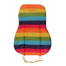 Hot Baby Thickness Cheap Rainbow Stroller Mat Child Cart Seat Cushion Anti-Slip Stroller Accessories Kids Chair Car Pad