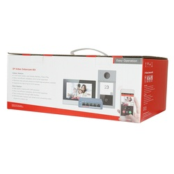 Hik Original multi-sprache 802,3 af POE Video intercom KIT, gehören DS-KV8113-WME1 & DS-KH6320-WTE1 & PoE Schalter, RFID Panel
