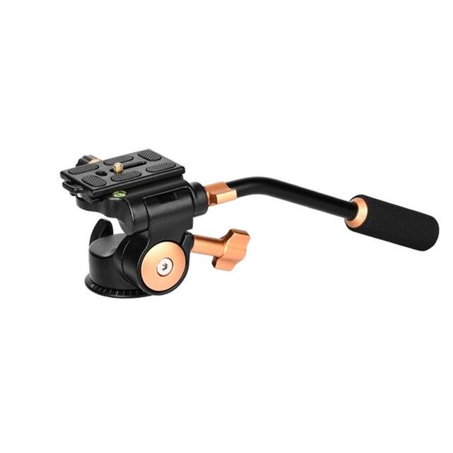 QINGZHUANGSHIDAI Q08S caméra trépied cardan amortissement hydraulique poignée tridimensionnelle PTZ photographie caméra PTZ