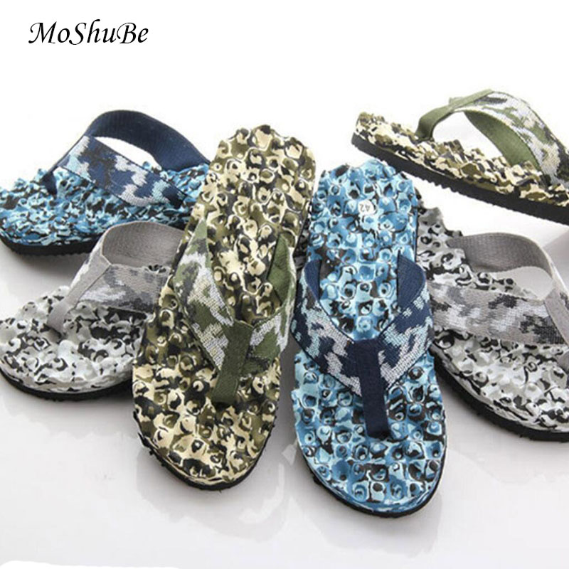 ​Summer 2019 Men Kids Flip Flops Camouflage Slippers Water Sandals Anti-slip Casual Shoes Soft Bottom Beach Massage Slippers
