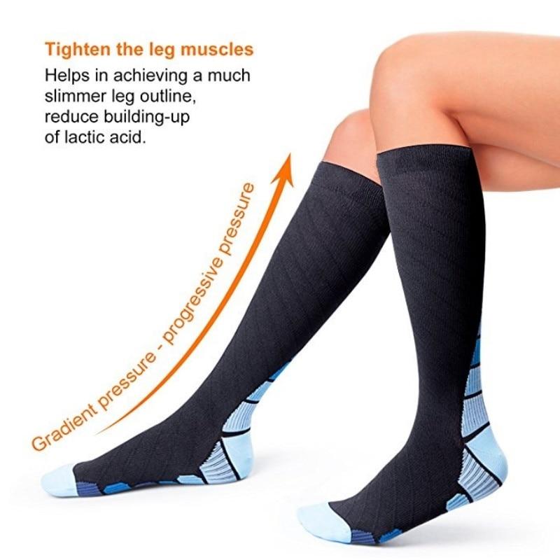 High Quality Professional Compression Socks For Men & Women Running Nurses Shin Splints Flight Travel Anti-Friction Sport Socks