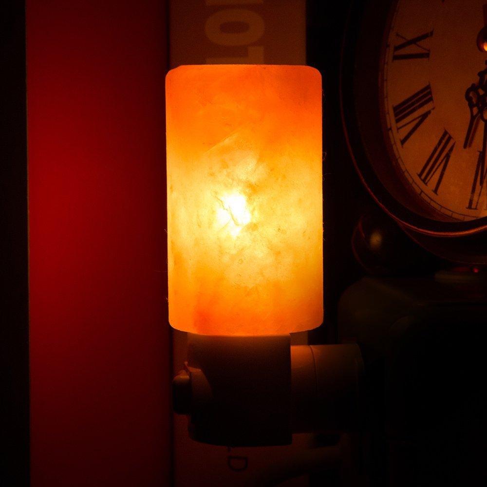 Ночная соляная ионизирующая лампа цилиндрическая настенная лампа с вилкой стол из природного камня лампа лампочки для Хэллоуина