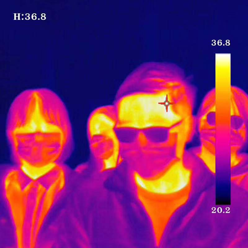 Infrared Thermal Camera With Live Streaming to Computer or TV Bluetooth For Human Body 2