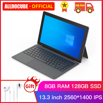 Alldocube KNote X Pro 13.3 inch Gemini lake N4100 Windows 10 Quad Core Tablet PC 8GB RAM 128GB SSD 2560*1440IPS Tablets